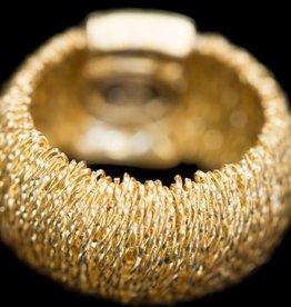 Sanjoya Flexible vergulde zilveren ring, Sanjoya