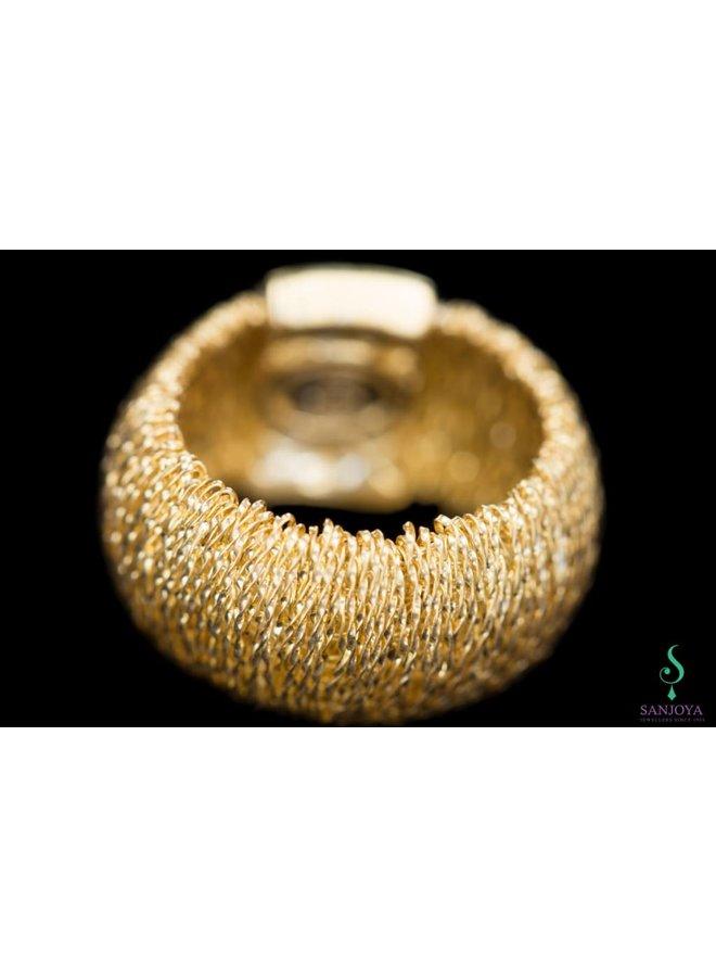 Flexible gold plated silver ring, Sanjoya