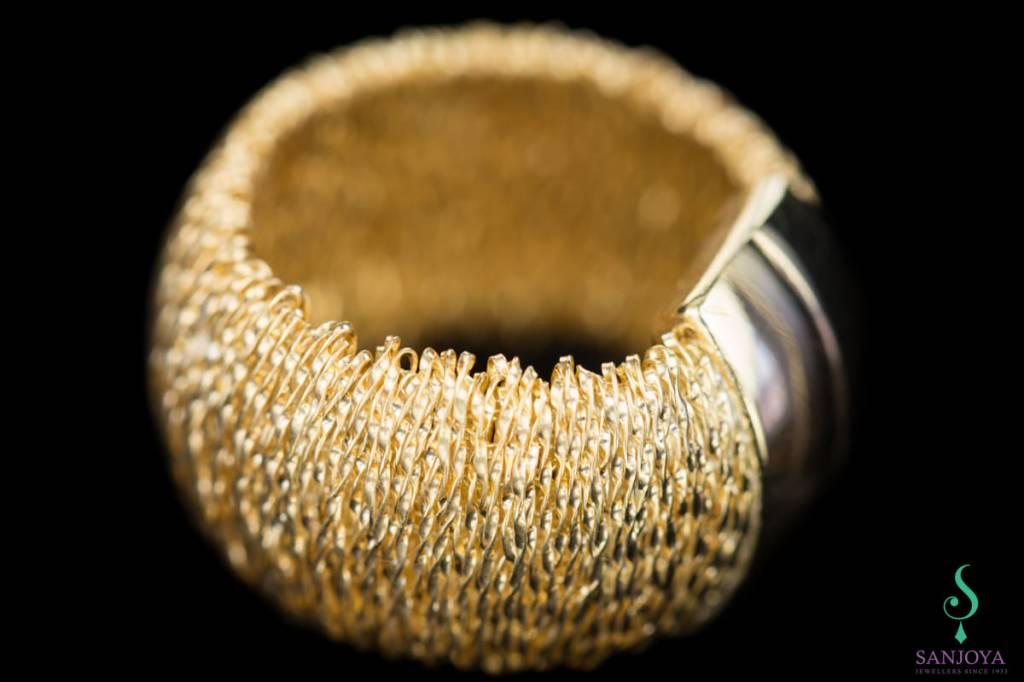 Sanjoya Flexible gold plated silver ring, Sanjoya
