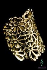 Sanjoya Opengewerkte vergulde zilveren design ring, Sanjoya.
