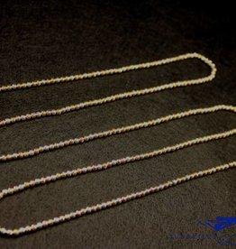 Sanjoya Vivid and sparkling 3-color silver necklace 80cm, Sanjoya