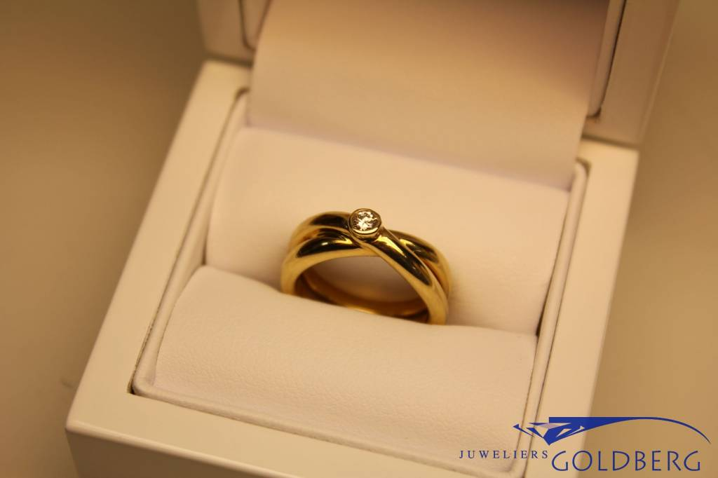 Paloma Picasso gold ring with diamond