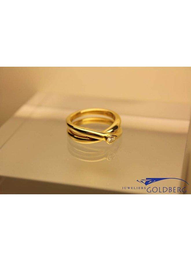 Paloma Picasso ring 18k goud met diamant