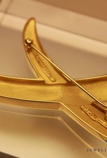 Large vintage Gold Signature X Pin Tiffany & Co. Paloma Picasso