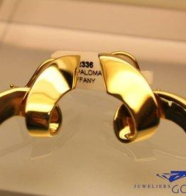 Vintage Paloma Picasso oorbellen 18k gouden goud