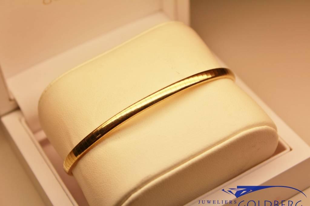 14k gouden gladde armband