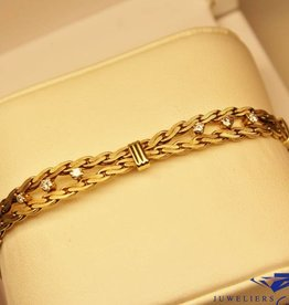 14 carat gold bracelet with 0.48 brilliant cut diamond