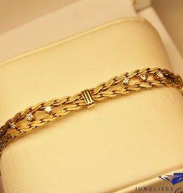 14k gouden armband met 0.48ct briljant