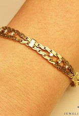 14 carat gold bracelet with 0.48 brilliant cut diamond
