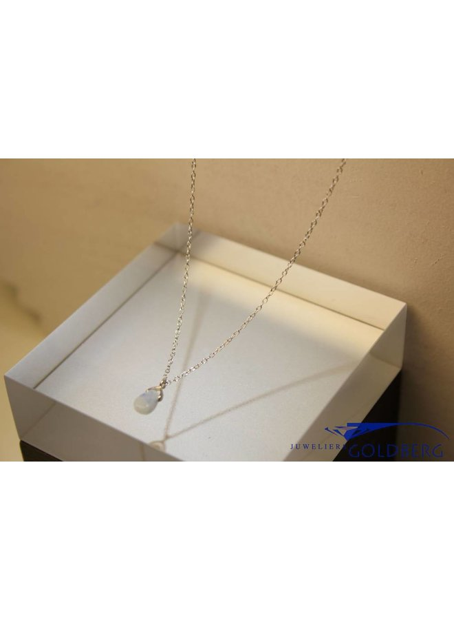 MAS necklace blue qwartz silver