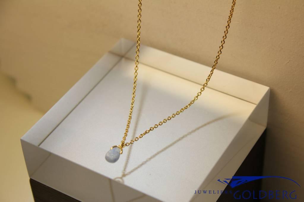 MAS Jewelz MAS necklace blue qwartz gold plated silver