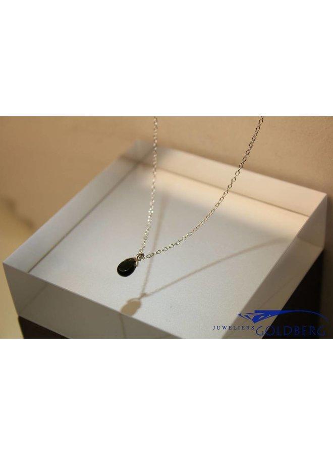 MAS necklace blackstone silver
