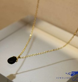 MAS Jewelz MAS collier blackstone verguld zilver