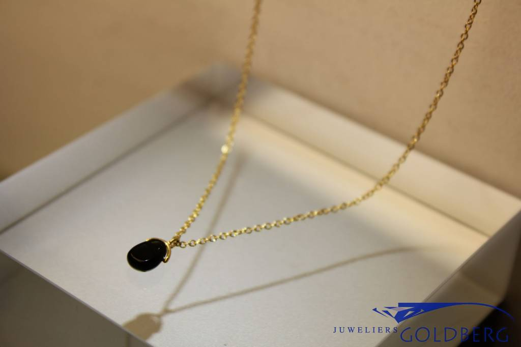 MAS Jewelz MAS collier blackstone verguld zilver