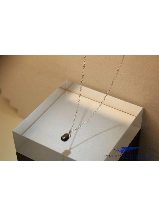 MAS necklace hematite silver