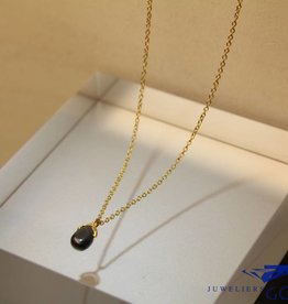MAS Jewelz MAS necklace hematite gold plated silver