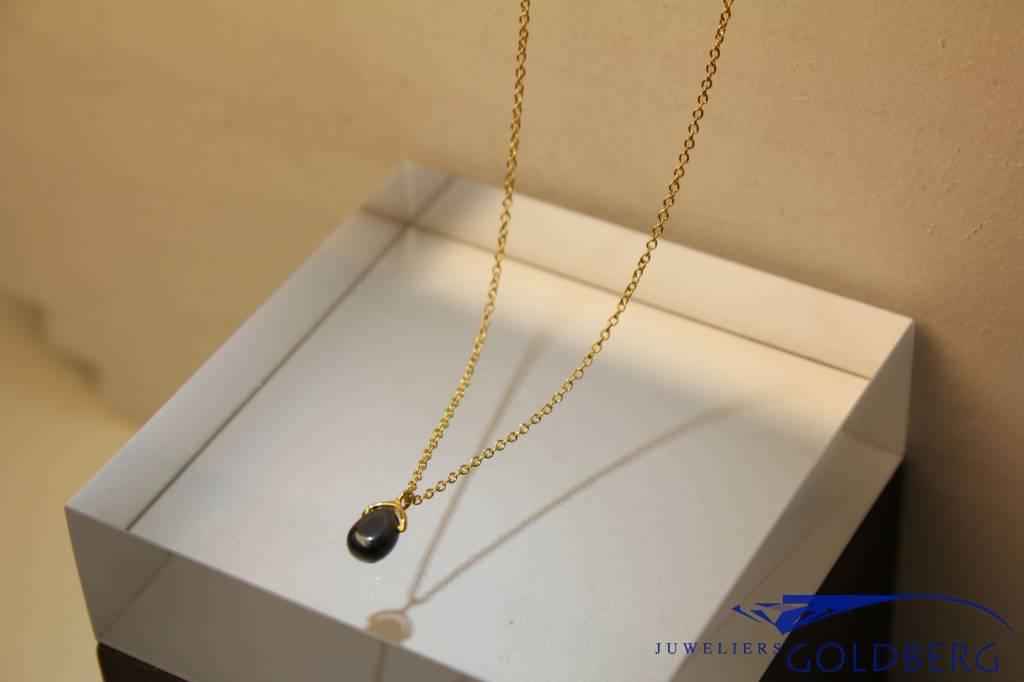 MAS Jewelz MAS necklace hematite gold plated silver