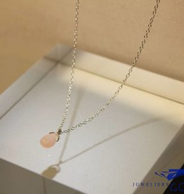 MAS Jewelz MAS collier roze opaal zilver