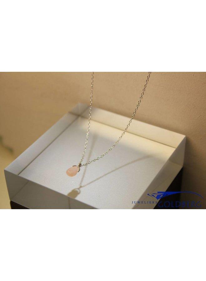 MAS collier roze opaal zilver