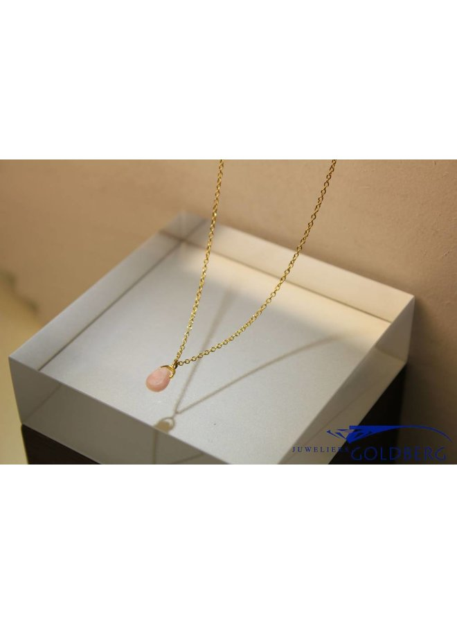 MAS necklace pink opal gold plated silver