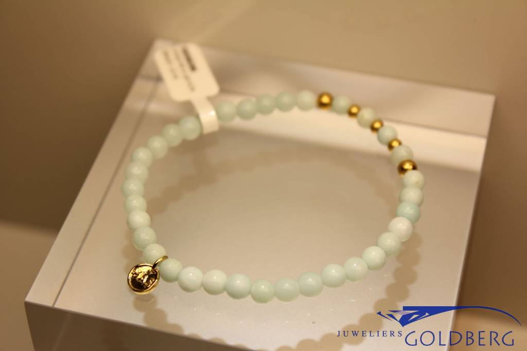 MAS Jewelz MAS armbandje amazoniet goud model 2 M