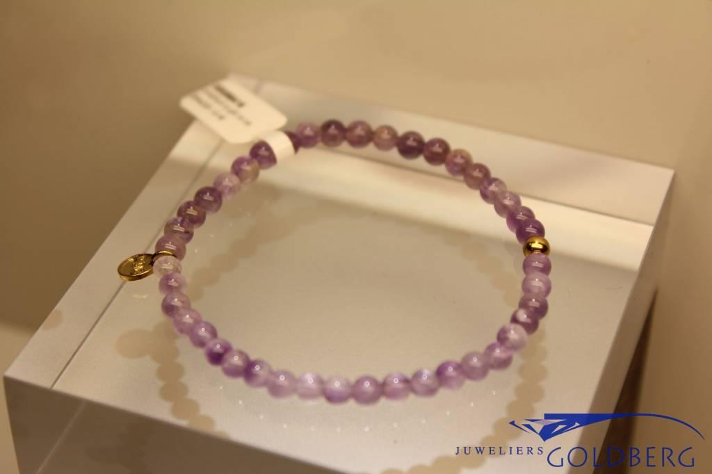 MAS Jewelz MAS armbandje amethyst goud model 1 M