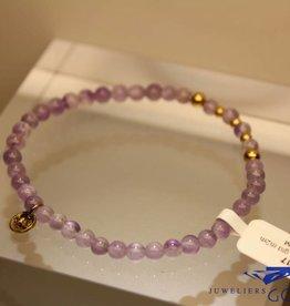MAS Jewelz MAS armbandje amethyst goud model 2 M