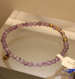 MAS Jewelz MAS bracelet amethyst gold model 2 M