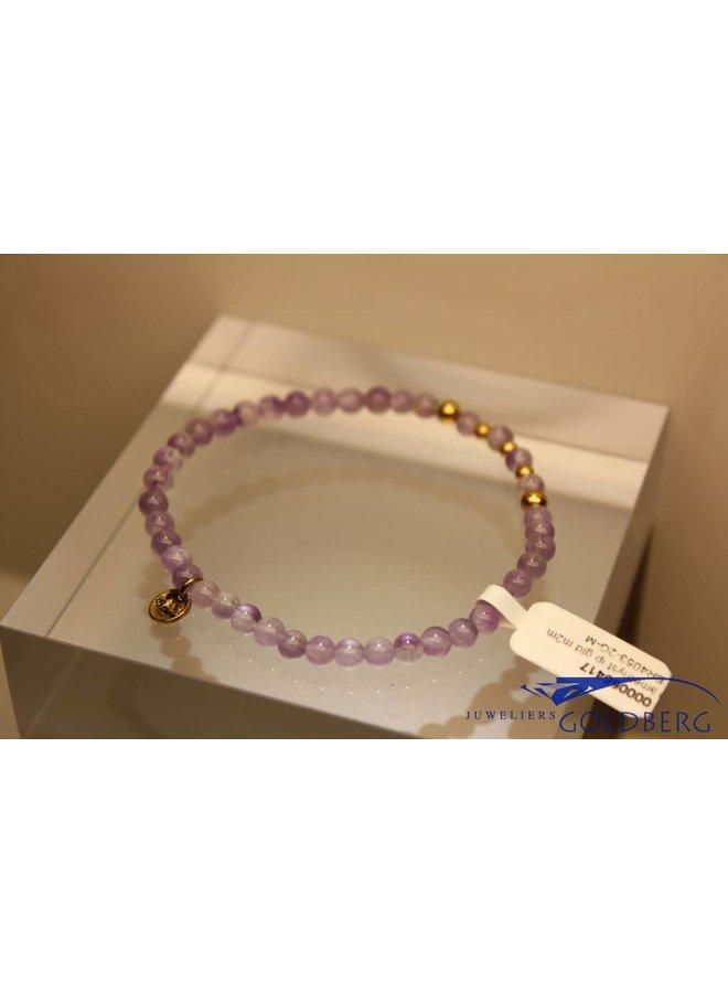 MAS bracelet amethyst gold model 2 M