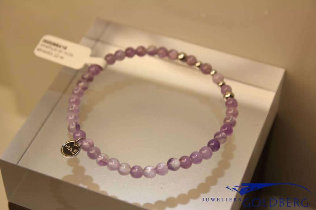 MAS Jewelz MAS armbandje amethyst zilver model 2 M