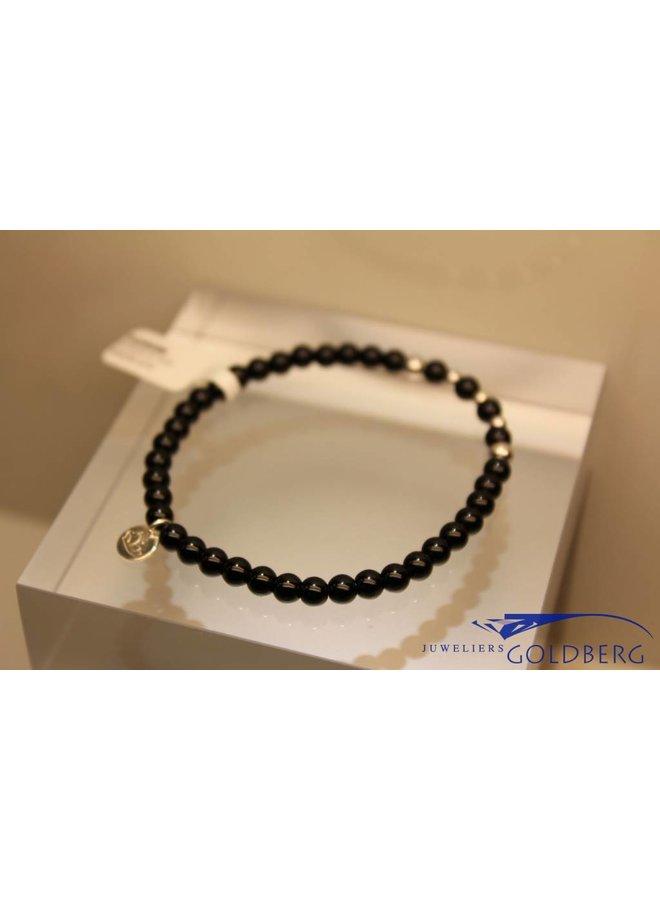 MAS armbandje blackstone zilver model 2 M