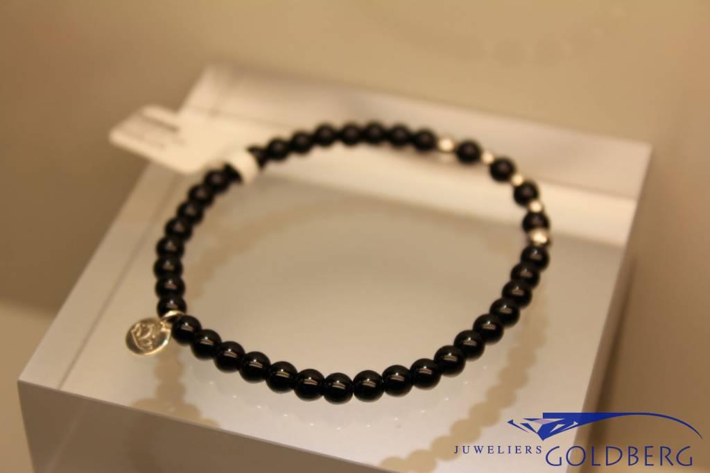 MAS Jewelz MAS armbandje blackstone zilver model 2 M