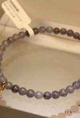 MAS Jewelz MAS armbandje blauwe kwarts goud model 1 M