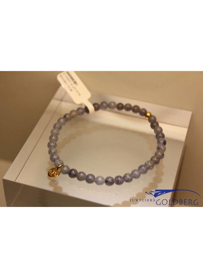 MAS bracelet blue quartz gold model 1 M
