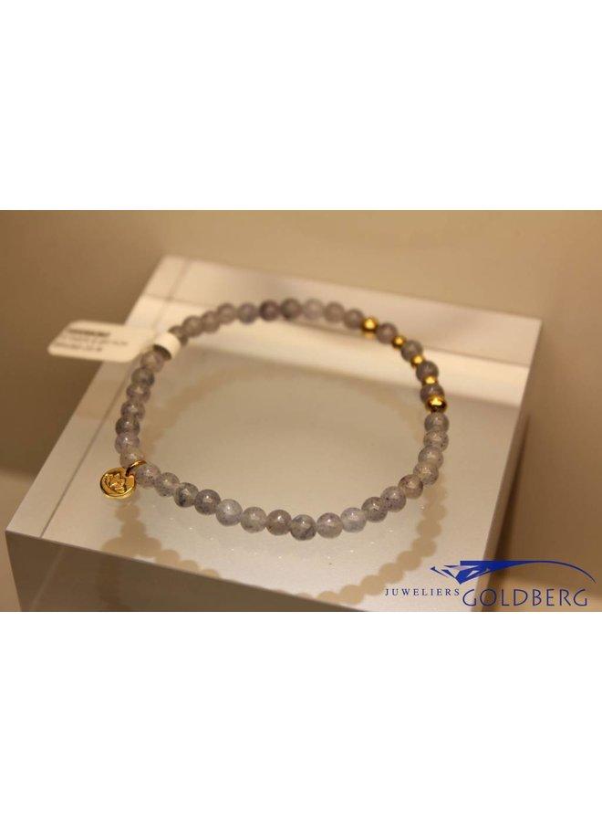MAS armbandje blauwe kwarts goud model 2 M
