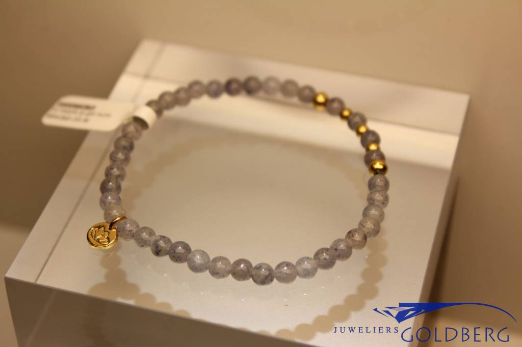 MAS Jewelz MAS armbandje blauwe kwarts goud model 2 M