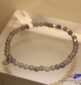 MAS Jewelz MAS armbandje blauwe kwarts zilver model 2 M