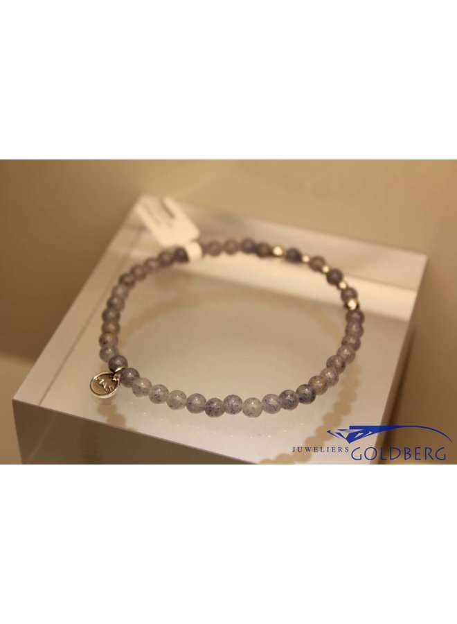 MAS armbandje blauwe kwarts zilver model 2 M