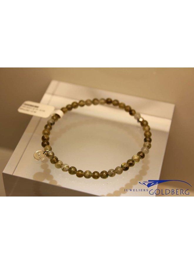 MAS armbandje labradoriet zilver model 1 M