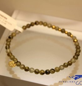 MAS Jewelz MAS armbandje labradoriet goud model 2 M