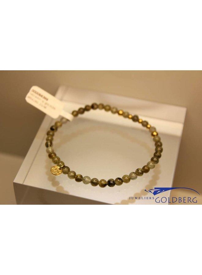 MAS bracelet labradorite gold model 2 M