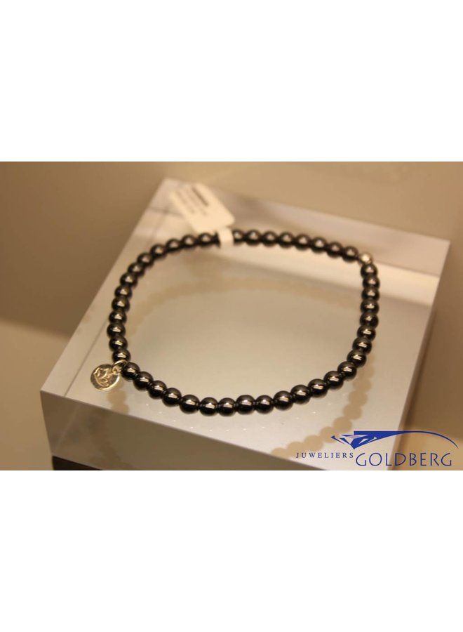 MAS armbandje hematiet zilver model 1 M