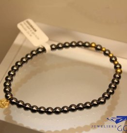 MAS Jewelz MAS armbandje hematiet goud model 2 M