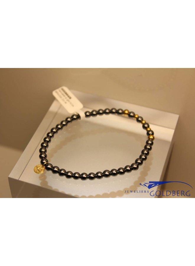 MAS armbandje hematiet goud model 2 M