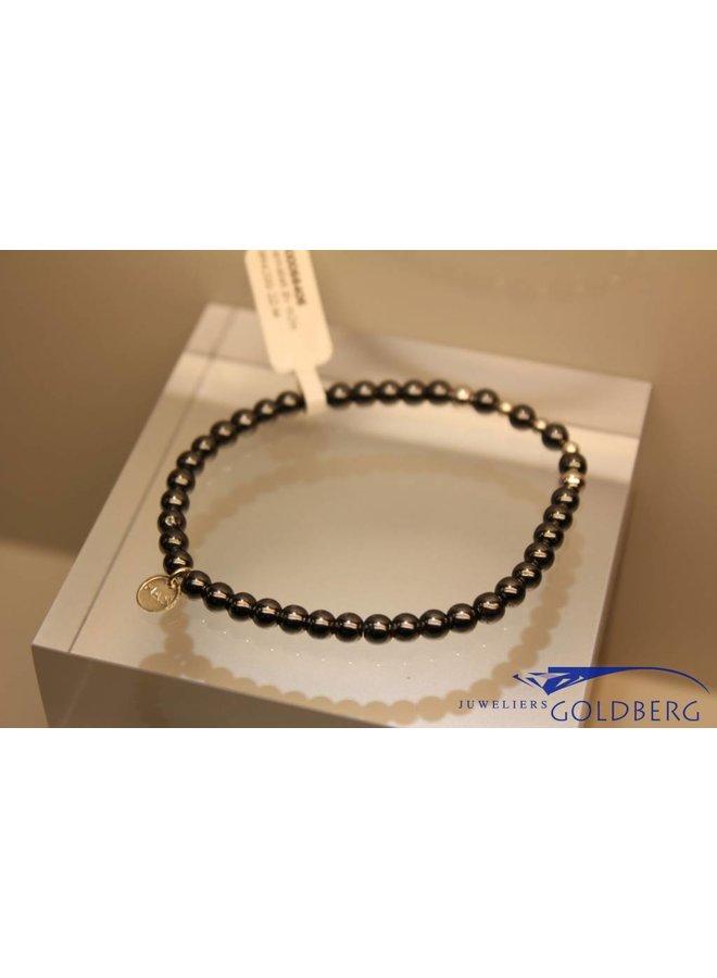 MAS armbandje hematiet zilver model 2 M