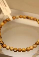 MAS Jewelz MAS armbandje landschap jaspis goud model 1 M