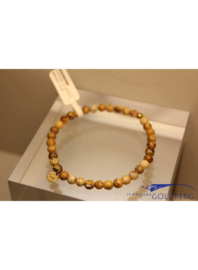 MAS bracelet landscape jasper gold model 1 M