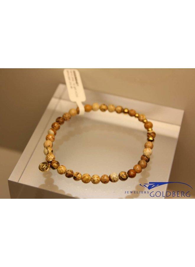 MAS bracelet landscape jasper gold model 2 M