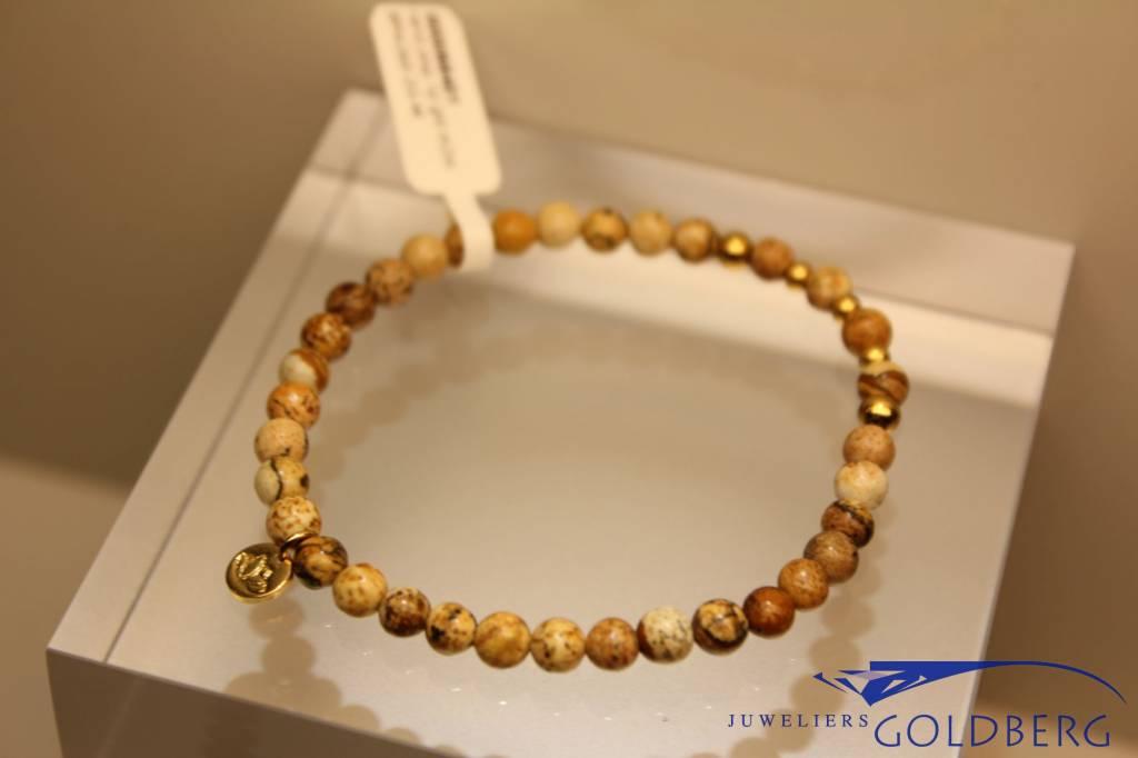 MAS Jewelz MAS armbandje landschap jaspis goud model 2 M