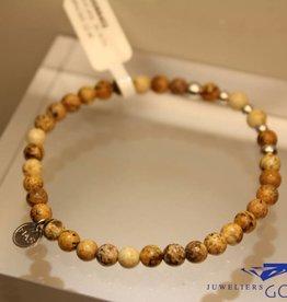 MAS Jewelz MAS bracelet landscape jasper silver model 2 M
